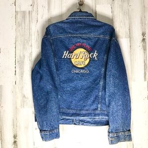 Hard Rock Cafe Chicago Vintage Denim Jacket XXL